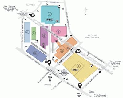 Plan parc des expositions paris path decorations - Plan metro paris porte de versailles ...